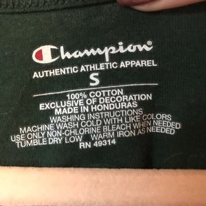 Champion Tops - SRU Champion Green Tank Top, size Small